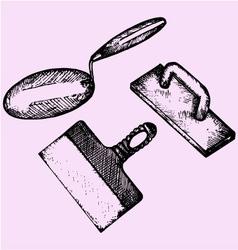 trowel finishing spatula vector image vector image