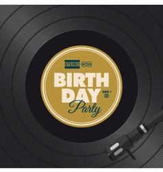 vinyl birthday party vector image vector image