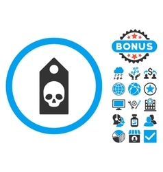 Death coupon flat icon with bonus vector