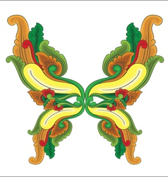 Butterfly ornament vector