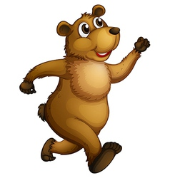 A big bear running vector image