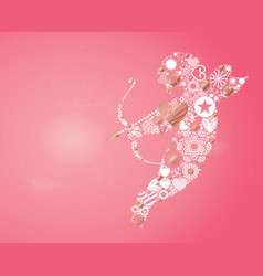 Cupid valentines day card vector