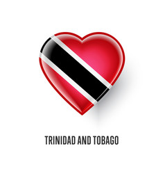Heart symbol with trinidad and tobago flag vector
