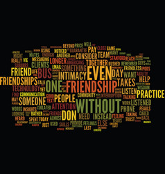 The need for friendship and community text vector