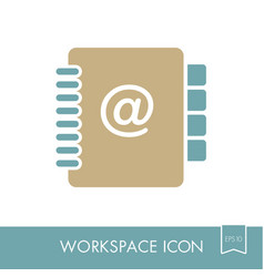 Address book outline icon workspace sign vector