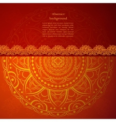 Red Indian Vintage Ornament for your business vector image