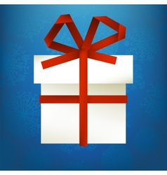 hristmas gift made from paper stripe  EPS8 vector image