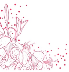 Romantic floral background for wedding funeral vector image