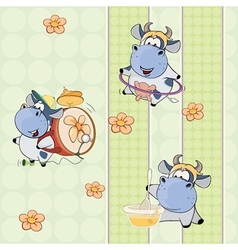 A background with cows vector
