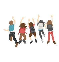 Teenage jumping  eps10 format vector