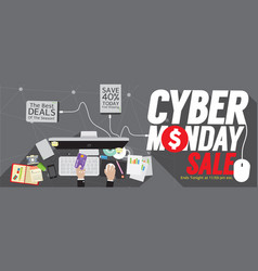 8000x3200 pixel cyber monday super wide banner vector