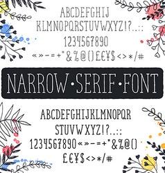 Narrow font vector