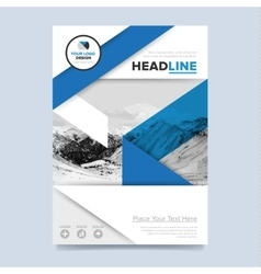 Gold annual report brochure design template vector