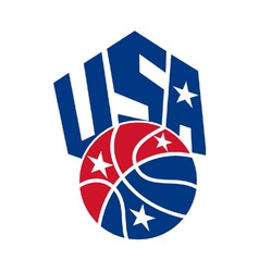 United states usa american basketball ball vector