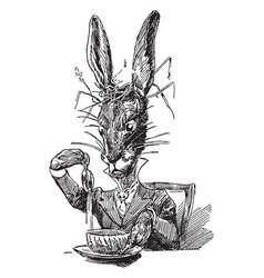 alice in wonderland vintage vector image