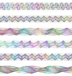 Color digital design page divider line set vector