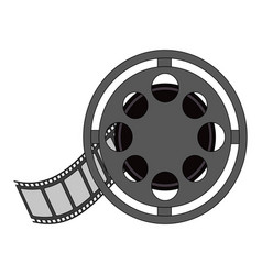 Color image cartoon film roll reel vector
