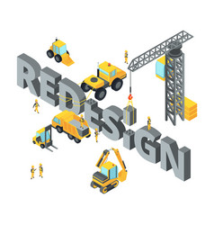 concept with big isometric letters vector image vector image