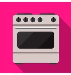 Cooker flat icon vector image vector image