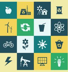 Digital green ecology vector