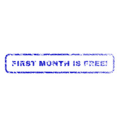First month is free exclamation rubber stamp vector