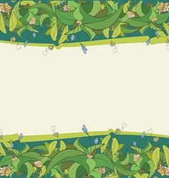 flora frame5 01 vector image