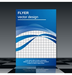 Flyer template vector image vector image