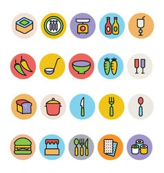 Food colored icons 11 vector