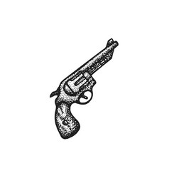 Hand drawn revolver vector