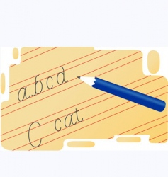 handwriting vector image vector image