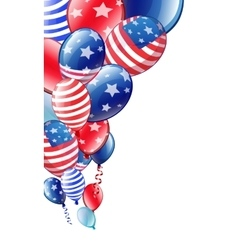 Independence Day colored balloons vector image vector image