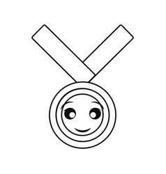 Kawaii medal of honor vector
