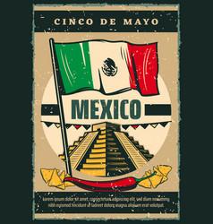 Mexican holiday cinco de mayo sketch poster vector