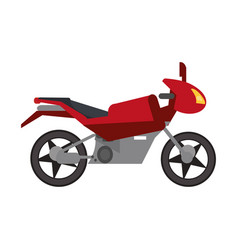 red motorcycle transport style vector image