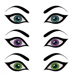 set female eyes isolated vector image vector image