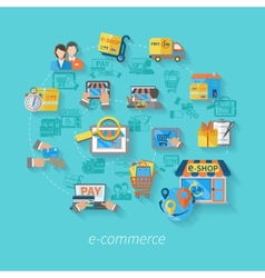 Shopping e-commerce concept vector