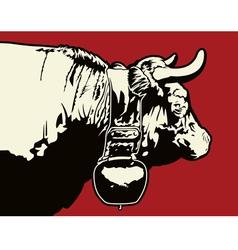Swiss cow vector
