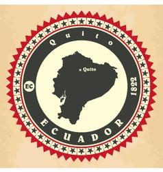 Vintage label-sticker cards of Ecuador vector image vector image