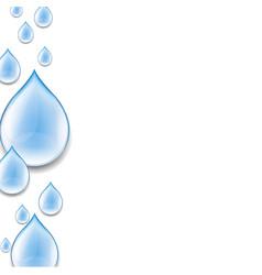 Water drop poster vector