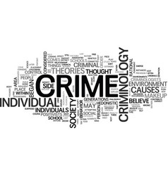 what is criminology text word cloud concept vector image