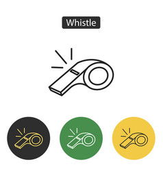whistle of referee icon vector image