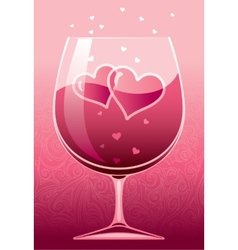 Wine of love vector