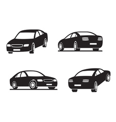 Cars in perspective vector image