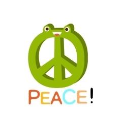 Peace word and corresponding  cartoon vector