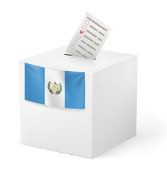Ballot box with voting paper guatemala vector