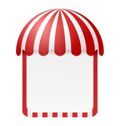 Striped awning with space for text vector image