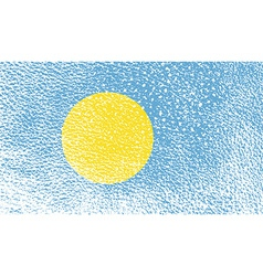 Flag of palau with old texture vector