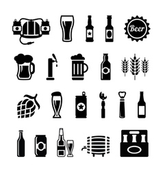 Set of beer icons vector image