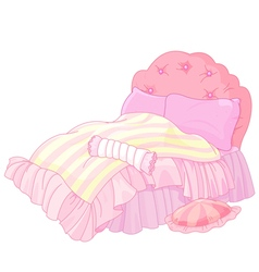 Princess bed vector