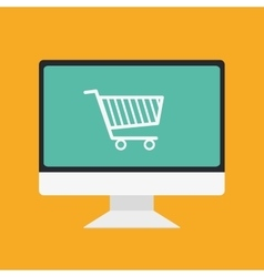 Shopping and ecommerce graphic design with icons vector